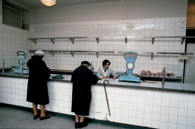 Warszawa, sklep mięsny, lata 80.